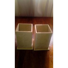 Portalapices En Fibrofacil De 6x6x9 Recto - Souvenirs