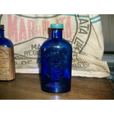 Antiguo Frasco De Farmacia Azul Leche Magnesia Phillips