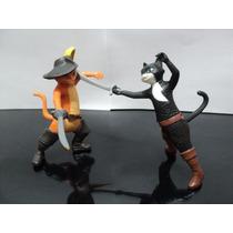 Lote 2 Gatos - Gato De Botas - (shrek) - Coleção Mc Donalds
