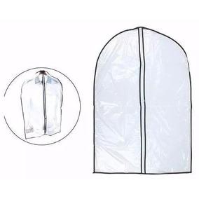 12 Capa De Plástico Para Roupas Com Zíper 60 X 90 Cm