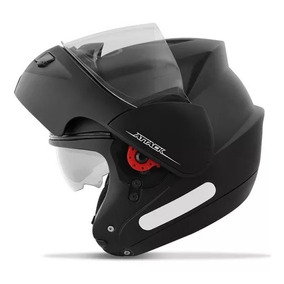Capacete Robocop Attack Solid Pro Tork Moto Preto Branco