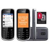 Celular Nokia 202 Asha -02chip,nacional,rádio,câmera,novo