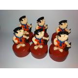 Bonecos Fred Flintstones Kit Com 6 Em Biscuit 2d Promoção