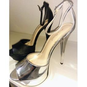 Zapatos De Fiesta Plata Y Negro Mate
