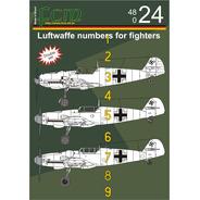 Decalque Fcm 48024 Numeros Luftwaffe Para Aviões Tipo Revell
