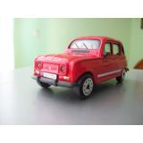 Renault 4 Rojo Escala Colecciones Die Cast