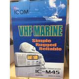 Radiotransmisor Marino Icom Icm-45 A Con Antena Opek 6.0 Db