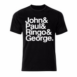 Camiseta Camisa Beatles Galeria Do Rock Banda Frases