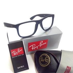 Armacao Oculos Grau Quadrado Justin Preta Acetato Fosco