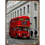Cartel Chapa Publicidad Antigua Bus London Tower Hill P223