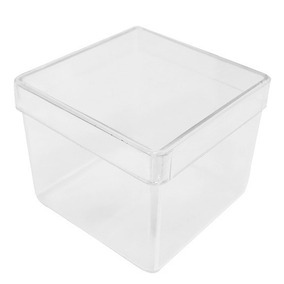 Caixa Acrílica 6x6cm Transparente - 12 Peças