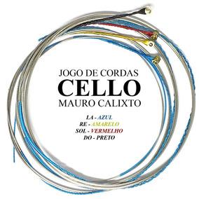 Jogo Cordas Para Violoncello 4/4 Mauro Calixto***