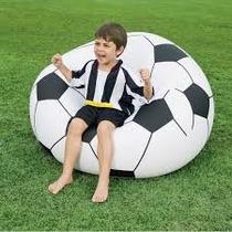 Puff Sillón Inflable Forma Balón De Futbol (envío Gratis)