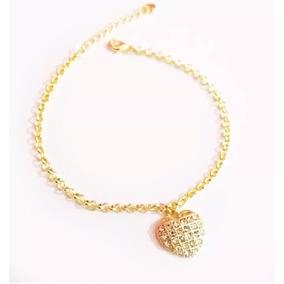 Pulseira Coração Lmebrança Madrinhas - Folheado A Ouro 18k