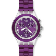 Reloj Swatch Full Blooded Blueberry Svck4048ag   Original