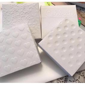 Lote De 10 Cajas Decoradas Para Accesorios. Caple Blanco