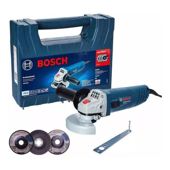 Amoladora Angular Bosch 850w 3 Discos Desbaste Maleta