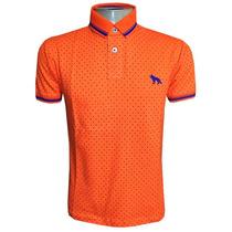 Camisa Polo Acostamento Laranja Bolinha Original