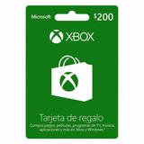 ..:: Tarjeta De Regalo Saldo Xbox 200 Pesos ::..