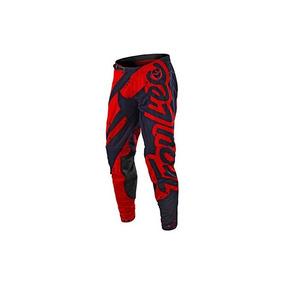 2018 Troy Lee Designs Se Air Shadow Pants-rojo / Azul Marino