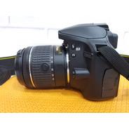 Nikon D3400 Dslr + Lente 18/55mm + Cartão 64gb