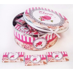Lata Central C/cinta + 40 Chocolates 8grs C/u Personalizados