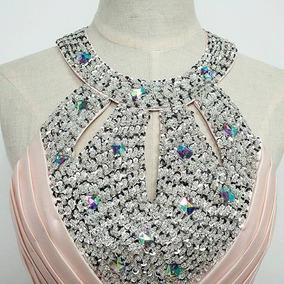 Vestido Formal Em Seda C/ Lantejoulas Valor Negociavel