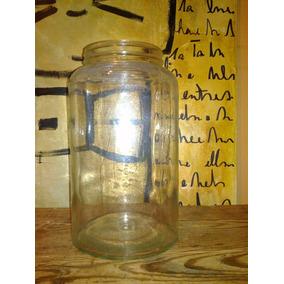1 Frasco Vidrio Grande S/tapa Bar Boliche Decoración Antiguo