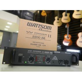 Amplificador Potência Ciclotron W Power 2200 Nf F Grátis