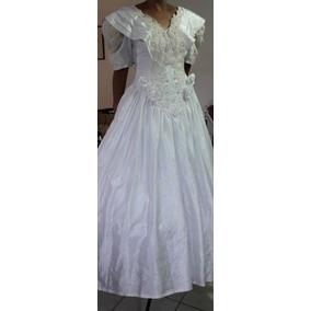 Vestido De Novia Usado, Español, Shantung De Seda Precioso