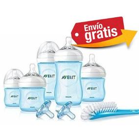 Biberones Avent Azul Kit Set Recien Nacido Linea Natural
