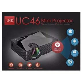 Mini Projetor Uc46 Wifi Led 1200 Lumens