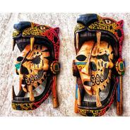 Mascara De Madera. Artesanía Mexicana Tallada 100% A Mano