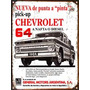 Cartel Chapa Publicidad Antigua Chevrolet Pick Up 1964 L252