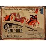 Cartel Chapa Publicidad Antigua Circuito Frances Y209