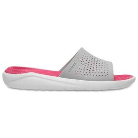 Crocs Originales Literide Slide Blanco Mujer 115