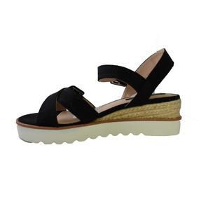 Zapatos Taco Chino De Yute Nuevos - Sandalias de Mujer Negro en ... 312053abe5e