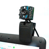 Camara Web Generica Pc 10mp Con Usb Auxiliar 6 Leds Con Clip