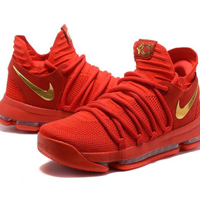 Tênis Nike Kd 10 Durant Basketeball Red Gold