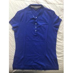 Camisa Polo Feminina Tommy Original - Azul