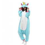 Unisex Azul Unicornio Animal Kigurumi Pijamas Cosplay Cumple