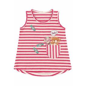 Roupa Infantil Feminina Camiseta Malha 1-2-3 Anos Fakini