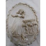 Placa De Alabastro Escultor Italiano G. Ruggeri 22x16