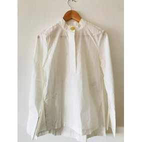 Camisa H&m Blusa De Vestir Algodon Blanco Talle 36