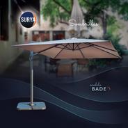 Sombrilla Surya Bade 3x4 Aluminio Premium C/base Cruz Acero