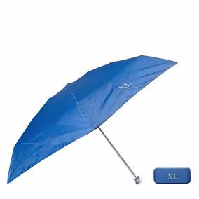 Paraguas Mediano Con Estuche Azul Xl Extra Large.