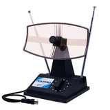 Antena Tv Interna Mini Parabolica Tv-350 Aquario Fm Uhf Vhf