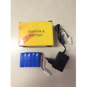 Kit Bateria E Carregador Ni-cd Aa 6v 500mah Envio Imediato