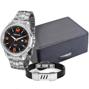 73e97145a64 Relogio Seculus Masculino Pulseira Borracha - Relógios no Mercado ...