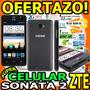 Wow Celular Zte Sonata 2 3g H+ Flash Camara 5mp Android 4.4